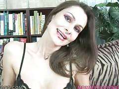 Awesome brunette milf Nora Noir is too much cock hungry.