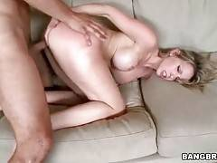 Courtney Cummz and her tough partner are passionately fucking.