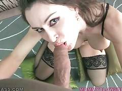 Nasty Nora Noir Skillfully Works Her Mouth 1
